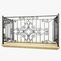 3d max wrought iron balcony