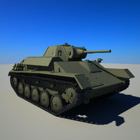 3d soviet tank t-70 model