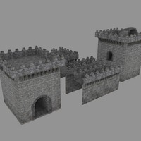 Castle Modular Asset Pack with collision geometry