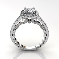 Halo Ancient Diamond Ring