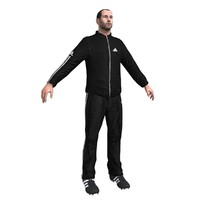 soccer coach 3d model