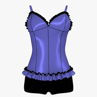 3d 3ds corset shorts female girl
