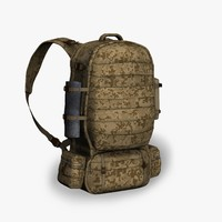 3d soldier backpack model