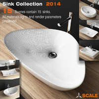 3d porcelain sink model