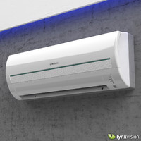 split air conditioner samsung 3d max