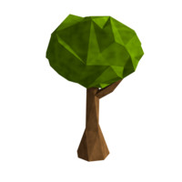 x low-poly tree