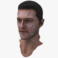 3d model male head 7