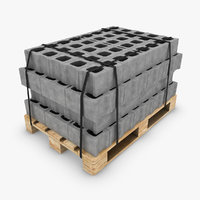 3d model of pallet blocks