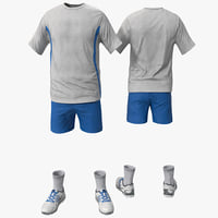 3d max tennis clothes 2