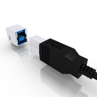 USB 3 Type B Male and Female Connector