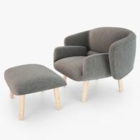 boconcept fusion chair 3d max