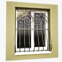 3d windows security bars model