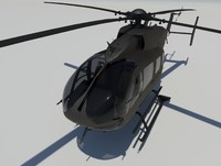 3ds max eurocopter uh-72 lakota helicopter