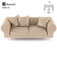 3d busnelli deja vu sofa design model