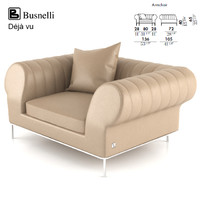 busnelli deja vu sofa design 3d model