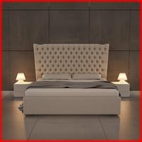 3d model nice bed 03