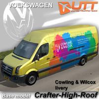 volkswagen crafter van cowling 3d max