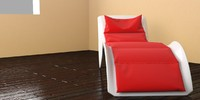 3d cosmo chaise longue model