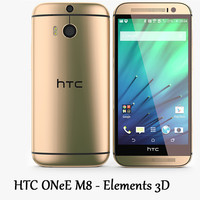 HTC One M8 Gold - Elements 3D