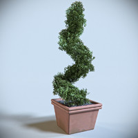 3d decoration shrub