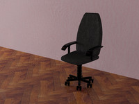 arm-chair kompyutera 3d model