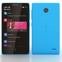 nokia x blue 3d 3ds