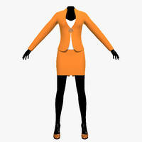 suit female mannequin obj