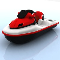 cartoon jet ski 3d max
