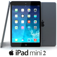 3d obj apple ipad mini 2