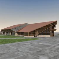 modern building 3d max