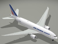 3d model of boeing air france cargo
