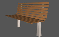 3ds gardens bench