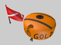 spearfishing buoy scuba 3d model
