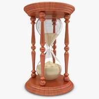 3d model of realistic hourglass