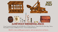medieval weapon pack ready 3d model