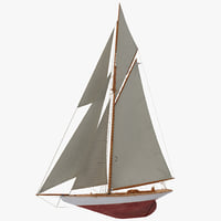 3d model sailboat boat sail