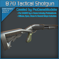 3d remington 870 tactical shotgun