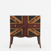 union jack 3-drawer chest 3d model