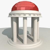 temple landmark 3d 3ds
