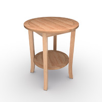3d model wooden coffee table