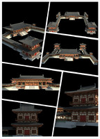 3d model chinese classical temple