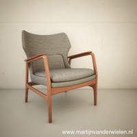 3ds max bovenkamp armchair