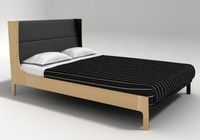 bergere bed autoban 3d model