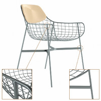 3d model metal armchair lounge chair
