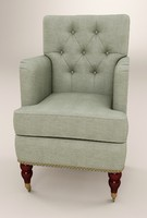 3d model chair ikea tufted occasional