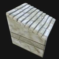 3d model of ancient stairs