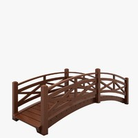 3d wooden bridge wood