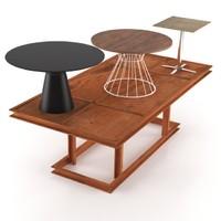 3d garden table set