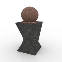 3d floating sphere marble