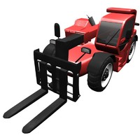 telescopic loader 3d blend